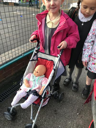 We will look after our new pushchairs and babies.