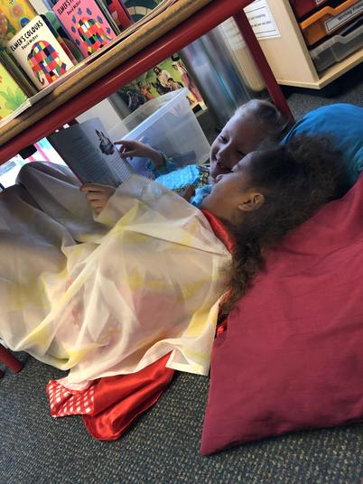 We made story dens to share our stories
