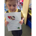 We had a go at writing speech bubbles.