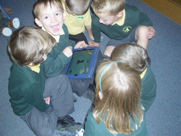 Sharing our IPad.