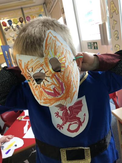 Masks based on the characters from Rosies walk