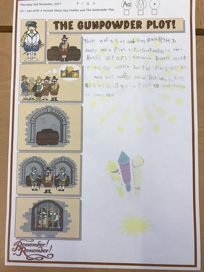 Our amazing writing about the 'The Gunpowder Plot'
