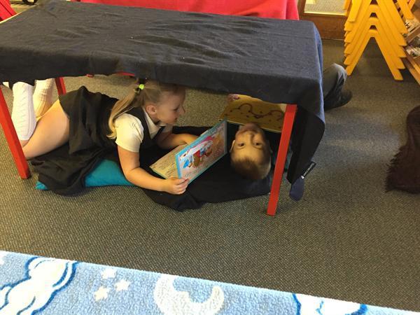 It's fun reading upside down!