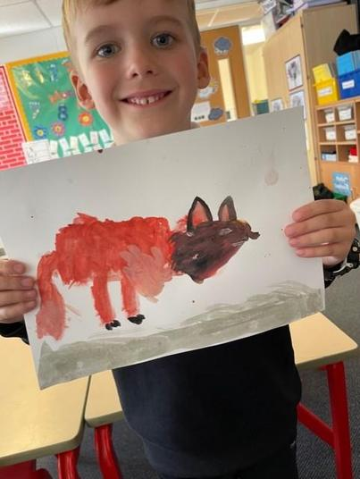 The shape and colour of this fox is outstanding!