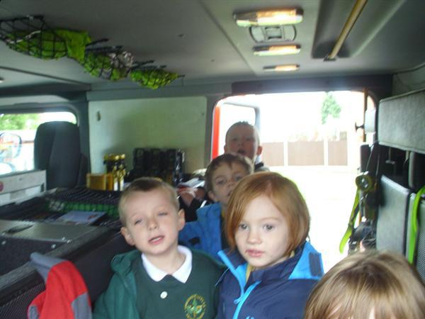 Inside the fire engine