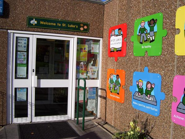 School Entrance into Reception Area