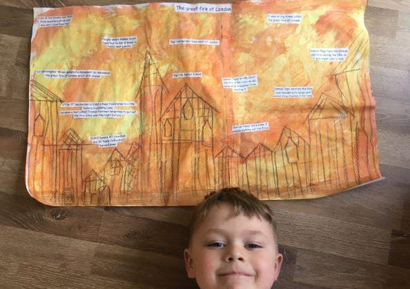 Facts and art based on the Great Fire of London