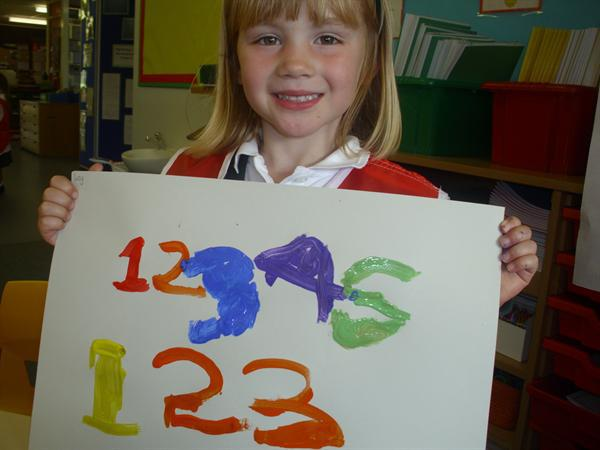 Beautiful number writing.