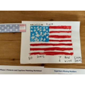 An amazing drawing of the American flag!