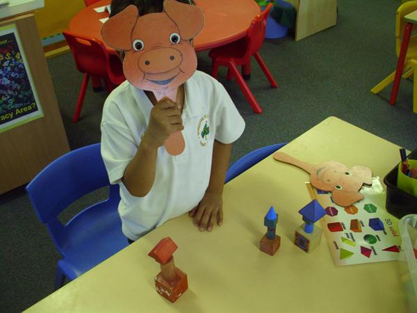 Our 3D 'three little pigs' houses