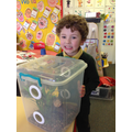 This boy brought in his own insects from home!