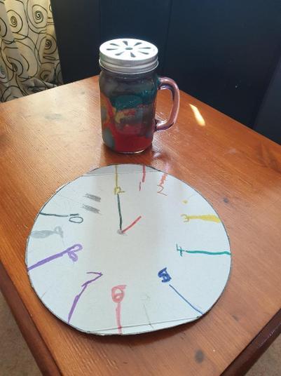 A great clock and dream jar!