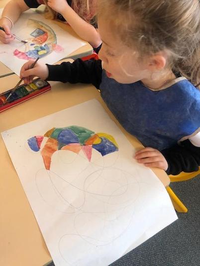 Using watercolours