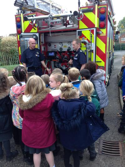 We got to have a tour of the fire engine!
