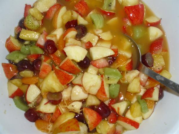 Yummy fruit salad made with Betty