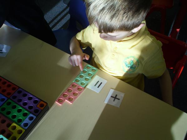 adding 2 numicon shapes together