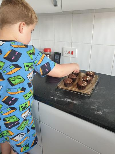 making cupcakes!