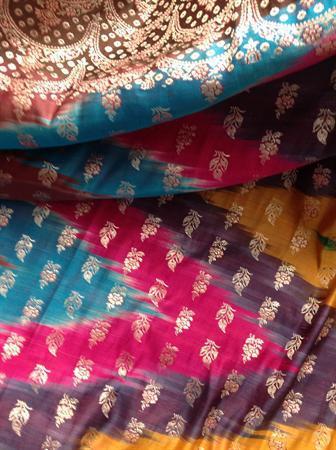 A rainbow sari.