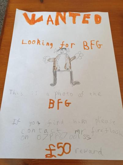 A great BFG wanted poster!