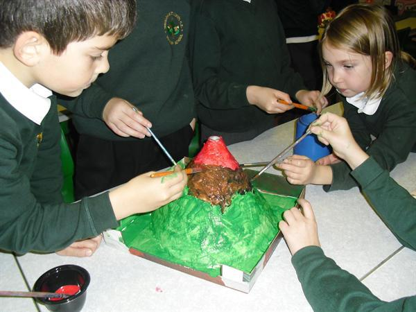 Painting our volcano