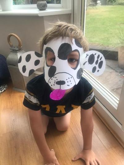 A dalmatian mask!