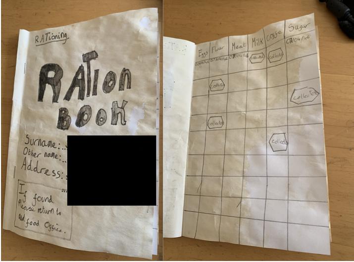 A World War 2 ration book.