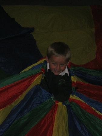 Using the parachute to work on the class target.