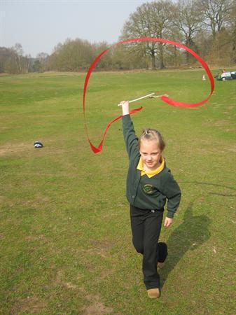 Exploring patterns using gym ribbons
