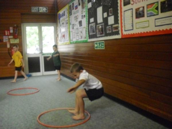 Our jumping skills in PE taken by Karol