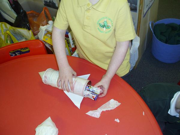 Making our space rockets!