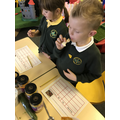 We tasted different sauces/spices.