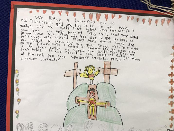 Writing about Asecension day and our prayer garden