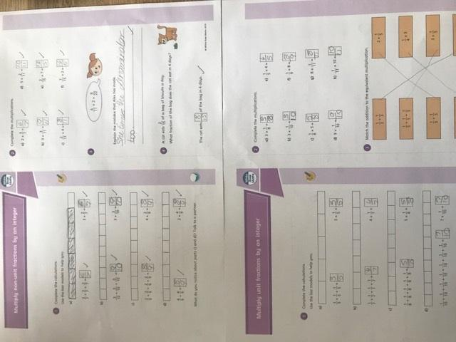 More excellent maths work