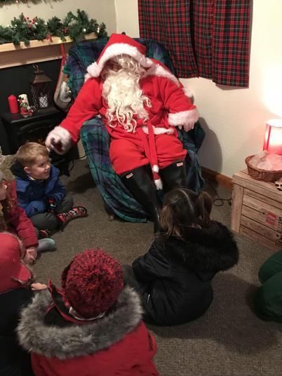 Listening carefully to Santa.
