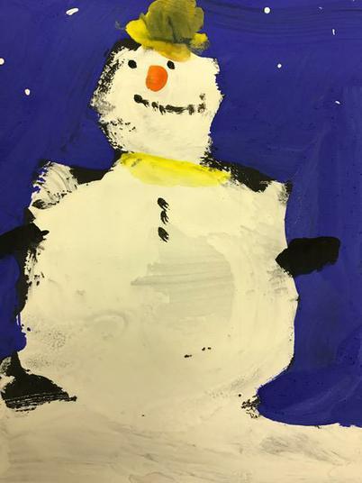 One happy snowman!