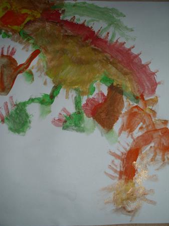 Cameron's dragon has huge claws!