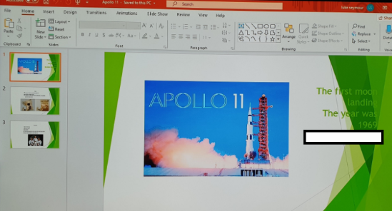 Creating information presentations about Apollo 11