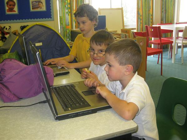 We use laptops and have an ICT Suite.
