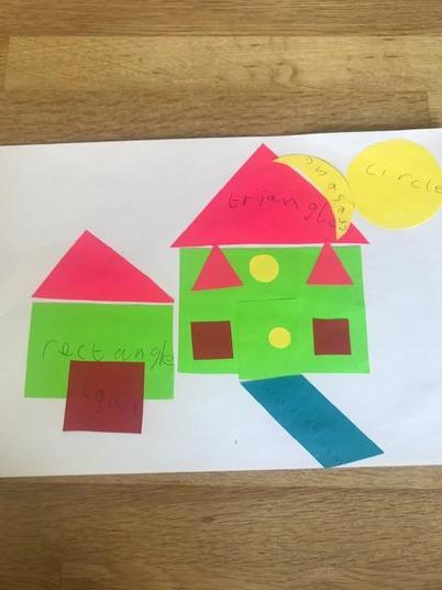 A great 2D shape house!