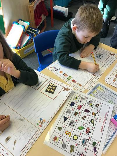Busy writing our instructions.