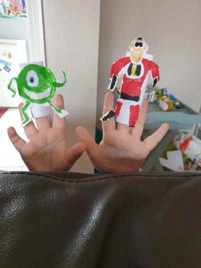 Wow, amazing finger puppets!