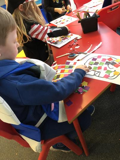 We had to make a patchwork Elmer