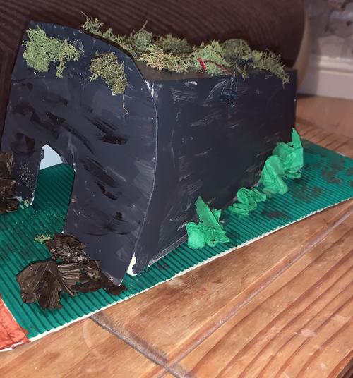 An amazing model air raid shelter.