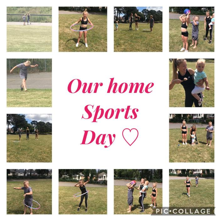 The Reynolds family Sports Day