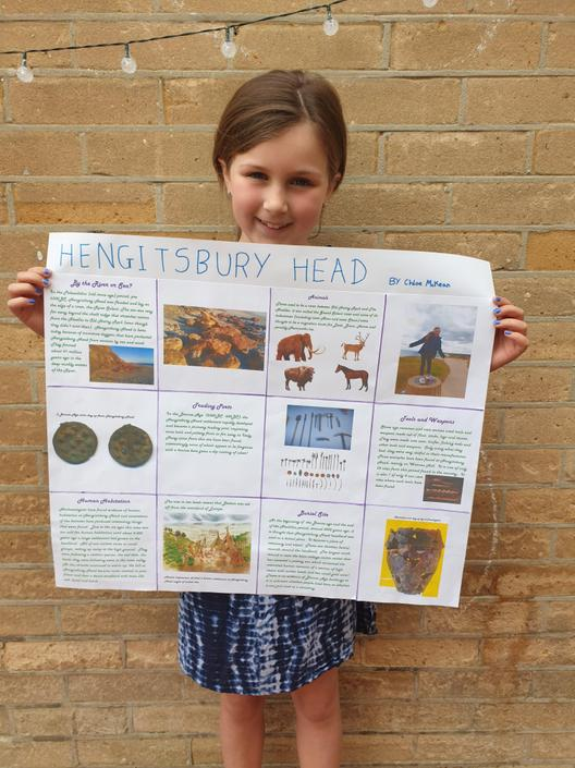 Chloe's Hengistbury Head Poster