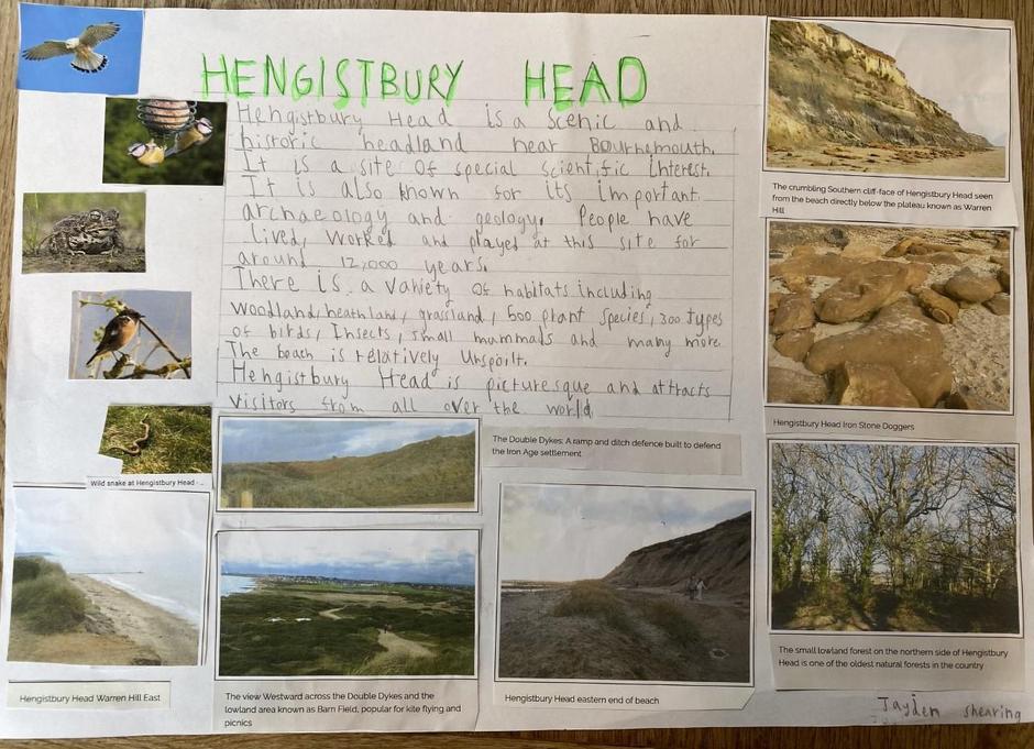 Jayden's Hengistbury Head research poster