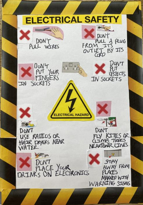 Jayden's Electrical Safety Poster
