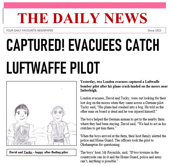 Daisy's newspaper report