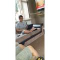 Khalis working hard on Mathletics!