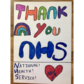 Grace's thank you to the NHS